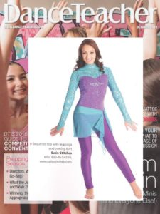 dance-teacher-magazine-10-16-featuring-satin-stitches-sequined-top-with-leggings